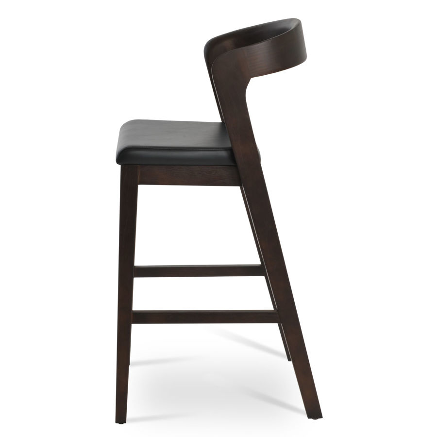 barclay bar solid ash walnut finish seat ppm s black 502 40 1jpg