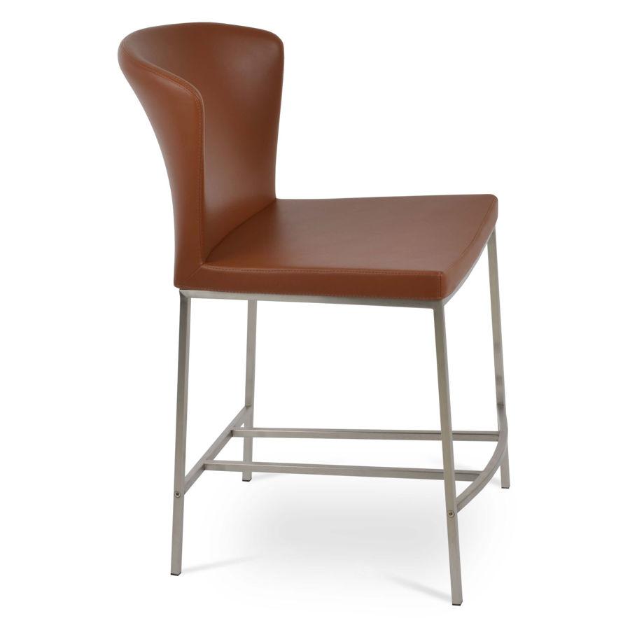 capri counter brushed s steel seat ppm s hazelnut 502 33 41jpg