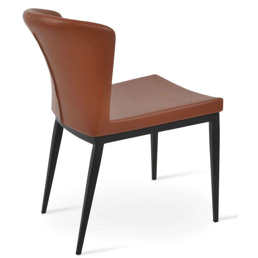 capri mw metal wood walnut veneer base seat ppm s hazelnut 502 33 55jpg