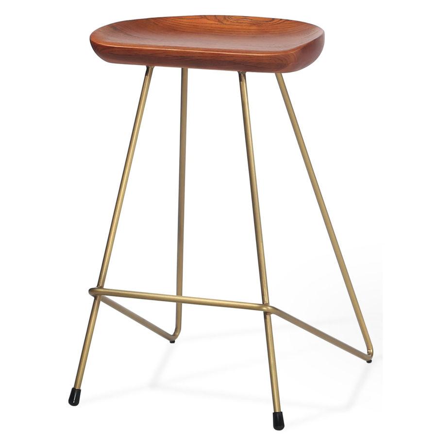 cattelan counter solid ash antique brushed seat solid steel bronze frame 1jpg