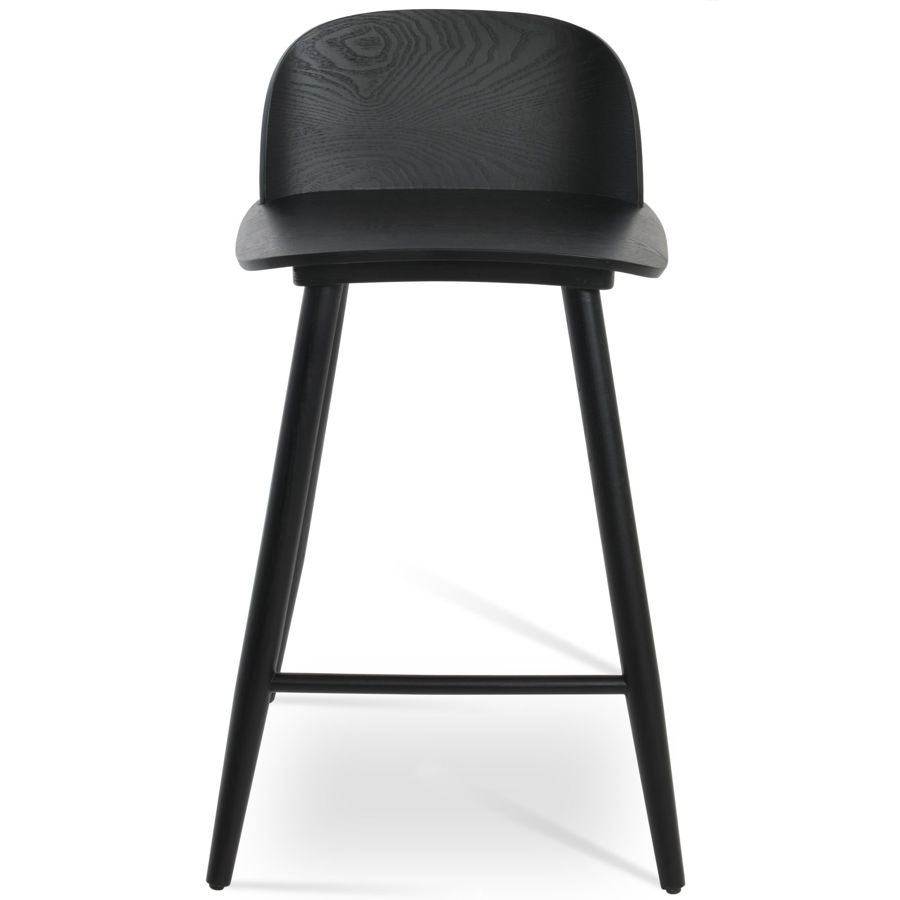 janelle chair plywood black finish seatback solid ash black finish legs 1jpg