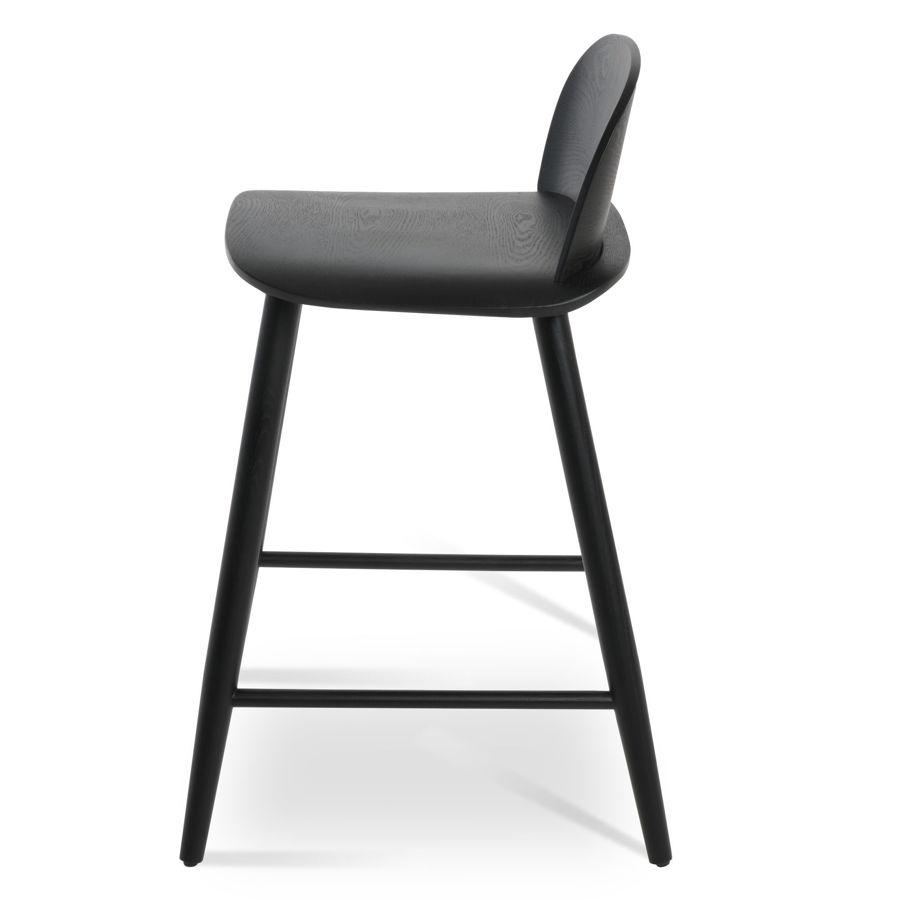 janelle chair plywood black finish seatback solid ash black finish legs 5jpg