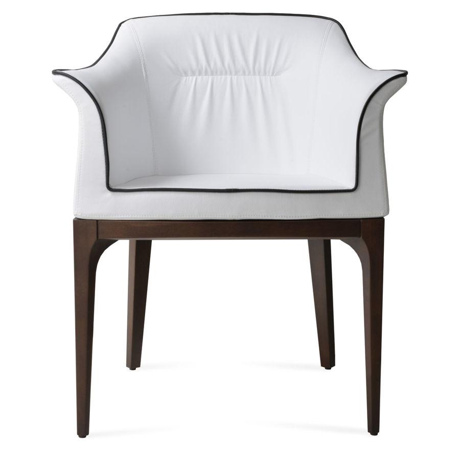 london arm dining chair walnut finish eco leather fsoft white 3jpg