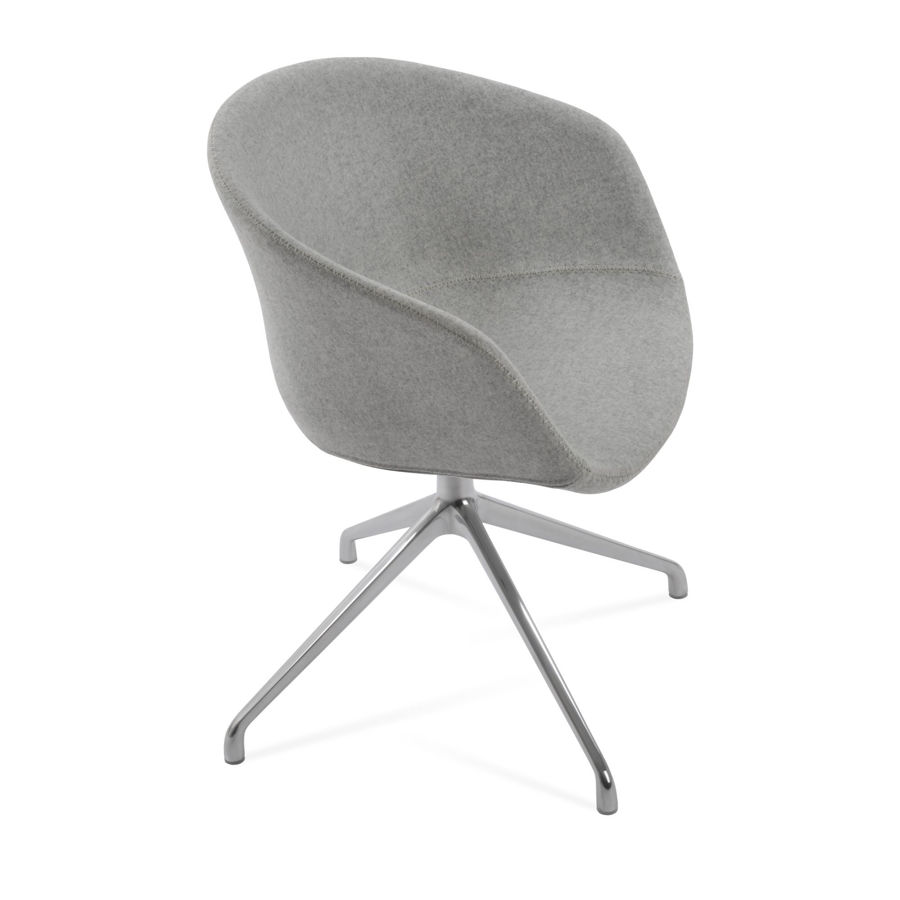 tribeca dining chair chrome finish camira wool silver jpg