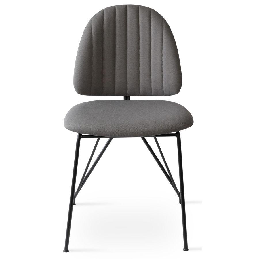 langham dining chair era fabric grey cse13 matt black frame 3jpg