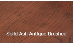 SOLID ASH ANTIQUE BRUSHED