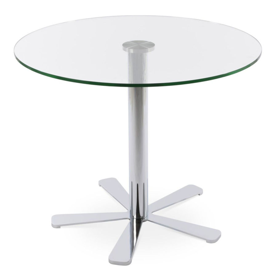 Picture of Daisy 5 Star Glass Dining Table