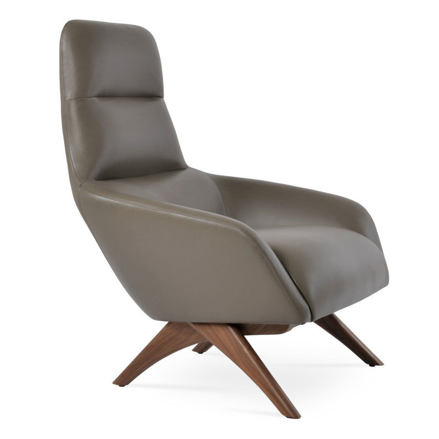Picture of Barcelona Armchair - Wood Base