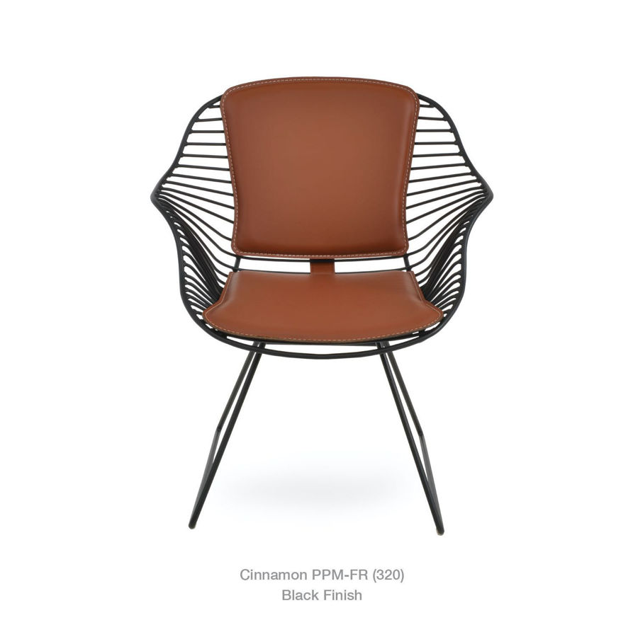 Picture of Zebra Arm Wire Chair Black